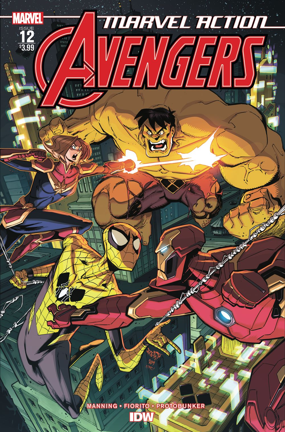 Marvel_Avengers12_coverA ComicList Previews: MARVEL ACTION AVENGERS #12