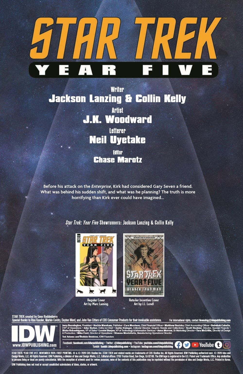 ST_YearFive17-pr-2 ComicList Previews: STAR TREK YEAR FIVE #17