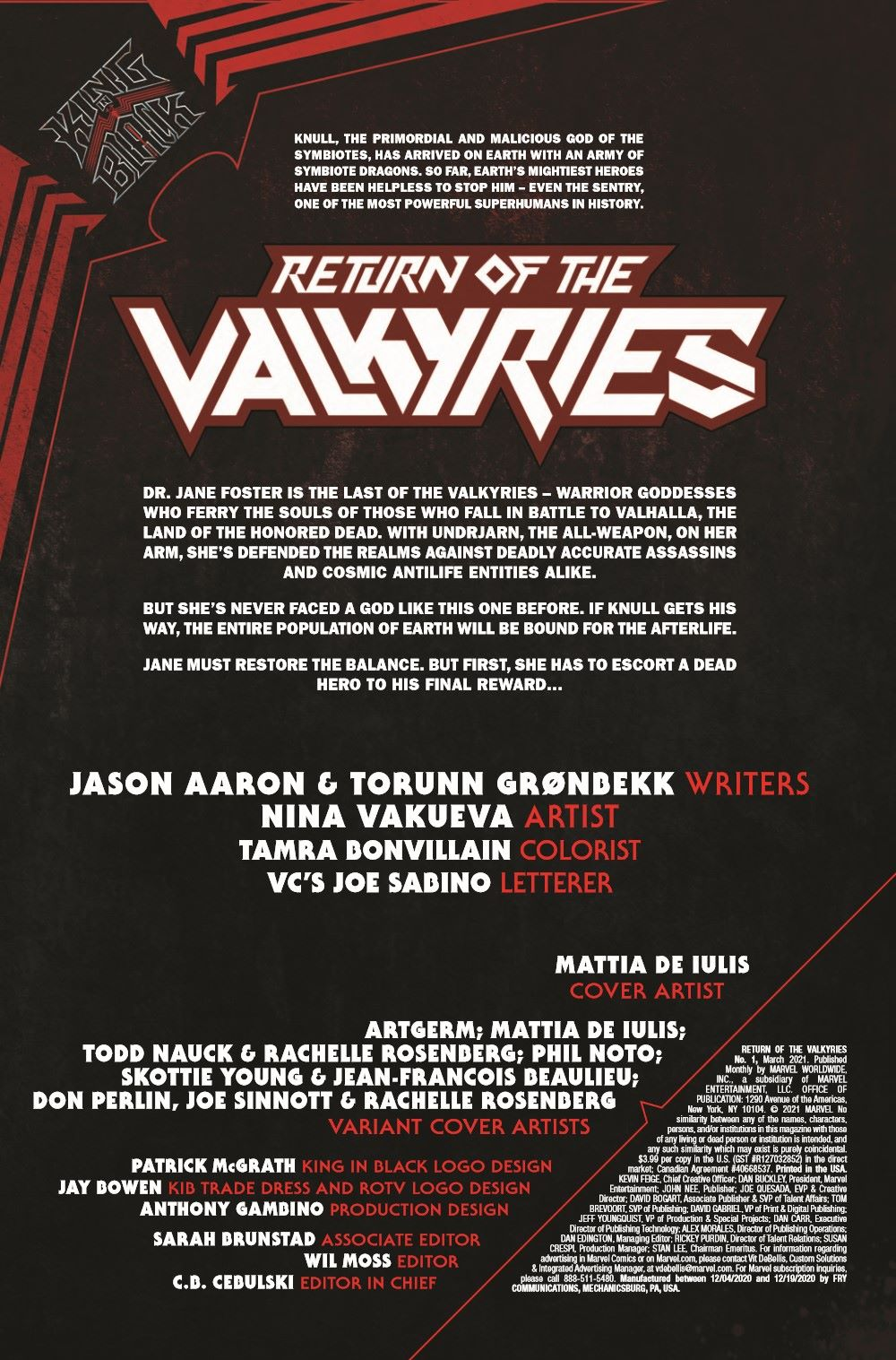 VALKYRIESRET2021001_Preview-2 ComicList Previews: KING IN BLACK RETURN OF THE VALKYRIES #1 (OF 4)