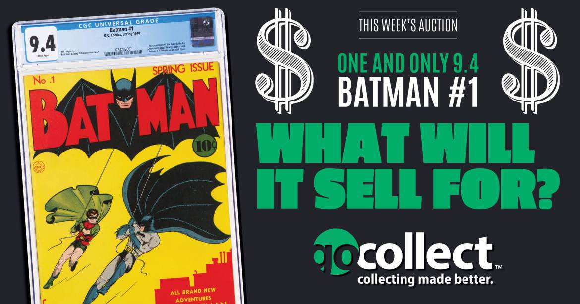 011221C_Facebook Batman #1 Being Auctioned! Who can Guess the Sold Price?