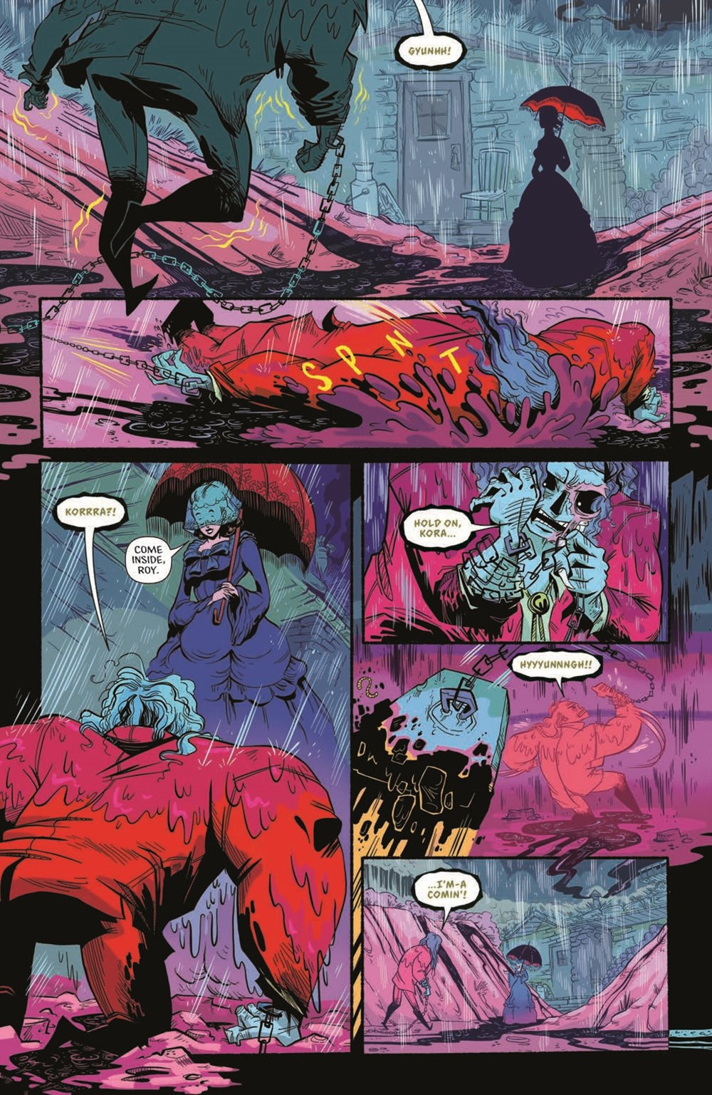 CttG01-pr-5 ComicList Previews: CHAINED TO THE GRAVE #1 (OF 5)