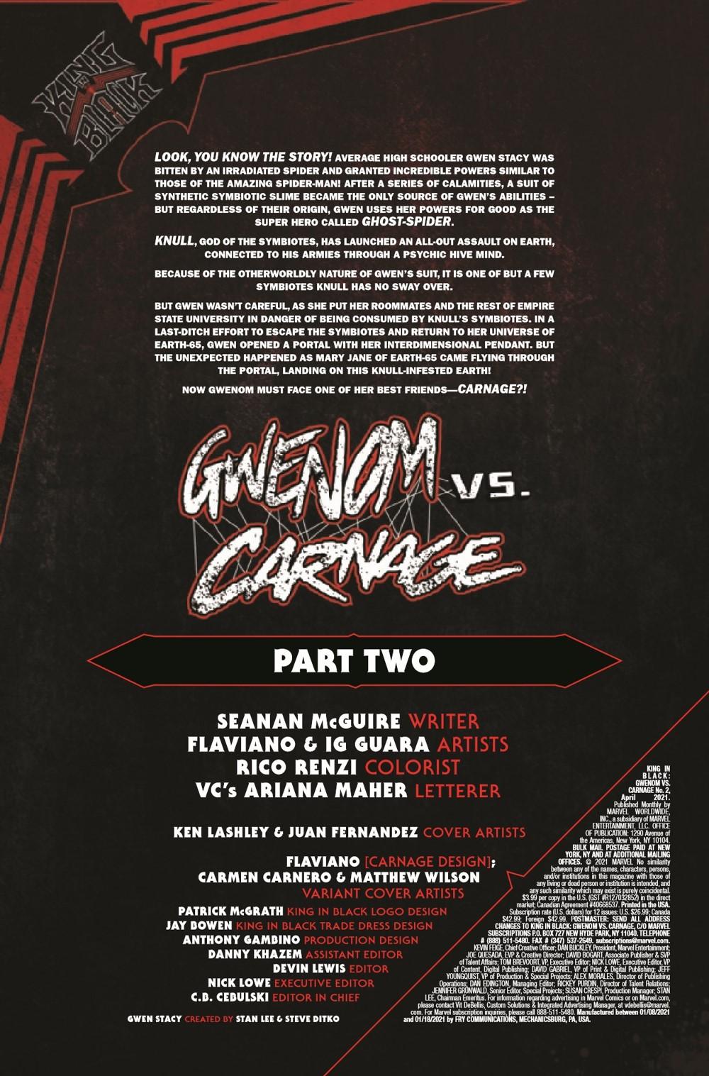 GWENOMVSCARNKIB2021002_Preview-2 ComicList Previews: KING IN BLACK GWENOM VS CARNAGE #2 (OF 3)