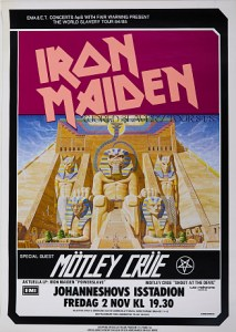 Iron-Maiden-World-Slave-213x300 The Many Eddies of Iron Maiden Concert Posters