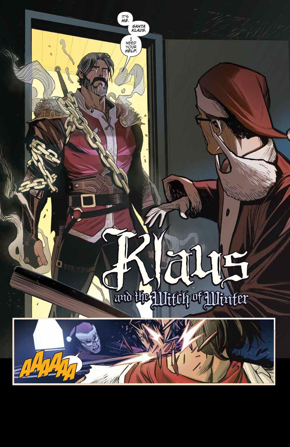 Klaus_NewAdventures_SC_PRESS_12 ComicList Previews: KLAUS THE NEW ADVENTURES OF SANTA CLAUS GN
