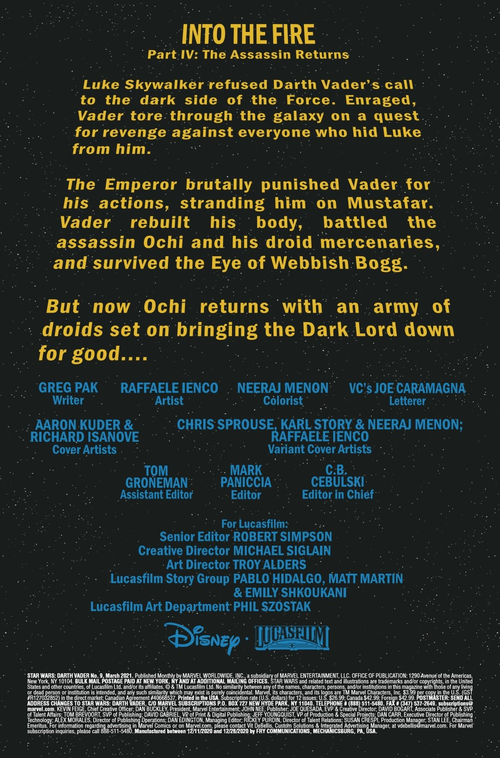 STWVADER2020009_Preview-2 ComicList Previews: STAR WARS DARTH VADER #9