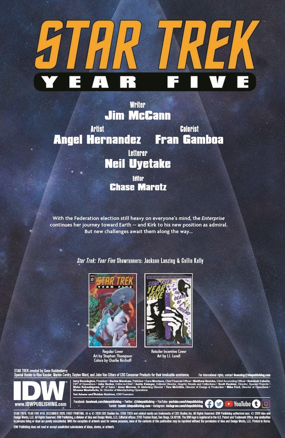 ST_YearFive18-pr-2 ComicList Previews: STAR TREK YEAR FIVE #18