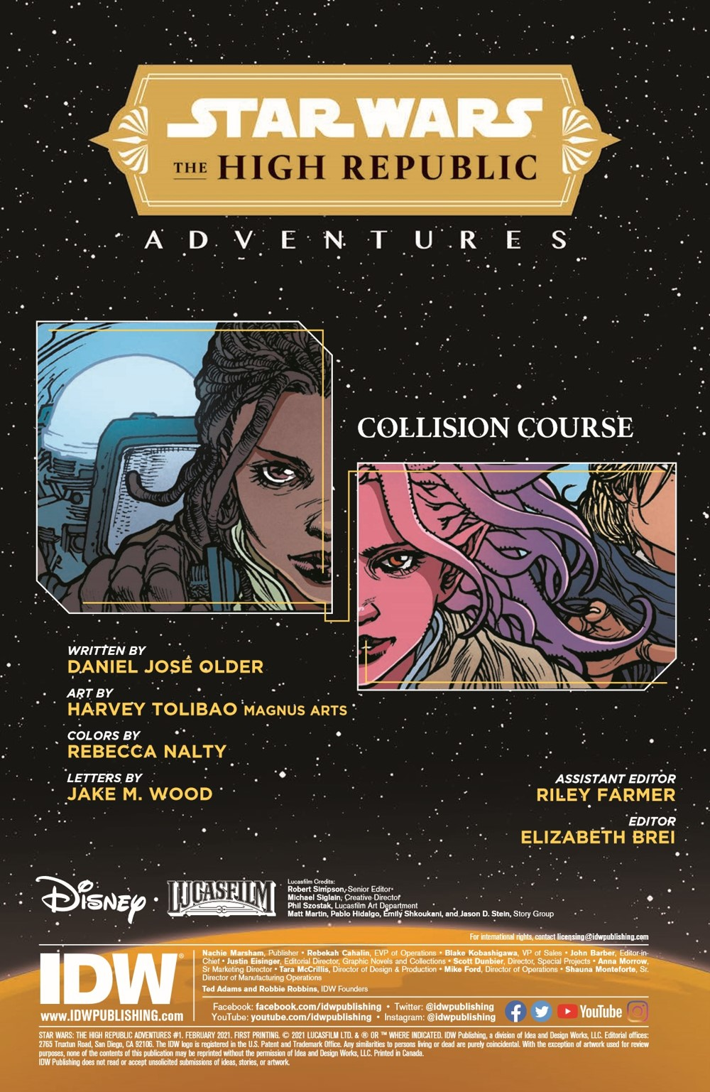 SWAHRA01-pr-2 ComicList Previews: STAR WARS THE HIGH REPUBLIC ADVENTURES #1