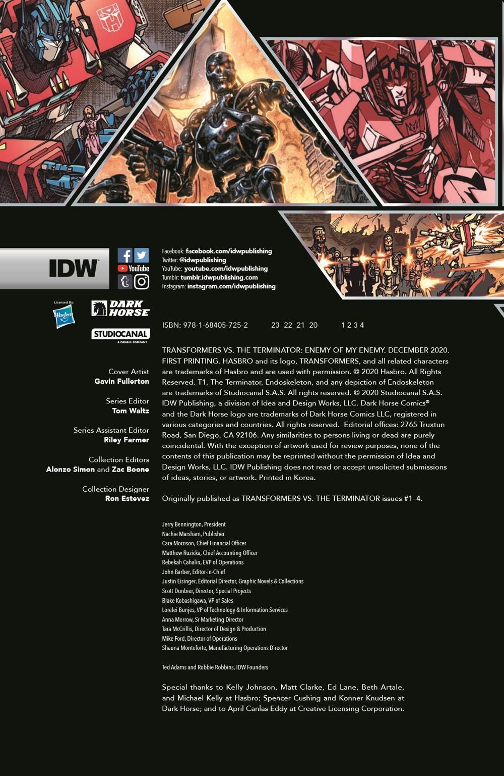TF-vs-TERMINATOR-pr-2 ComicList Previews: TRANSFORMERS VS THE TERMINATOR ENEMY OF MY ENEMY TP