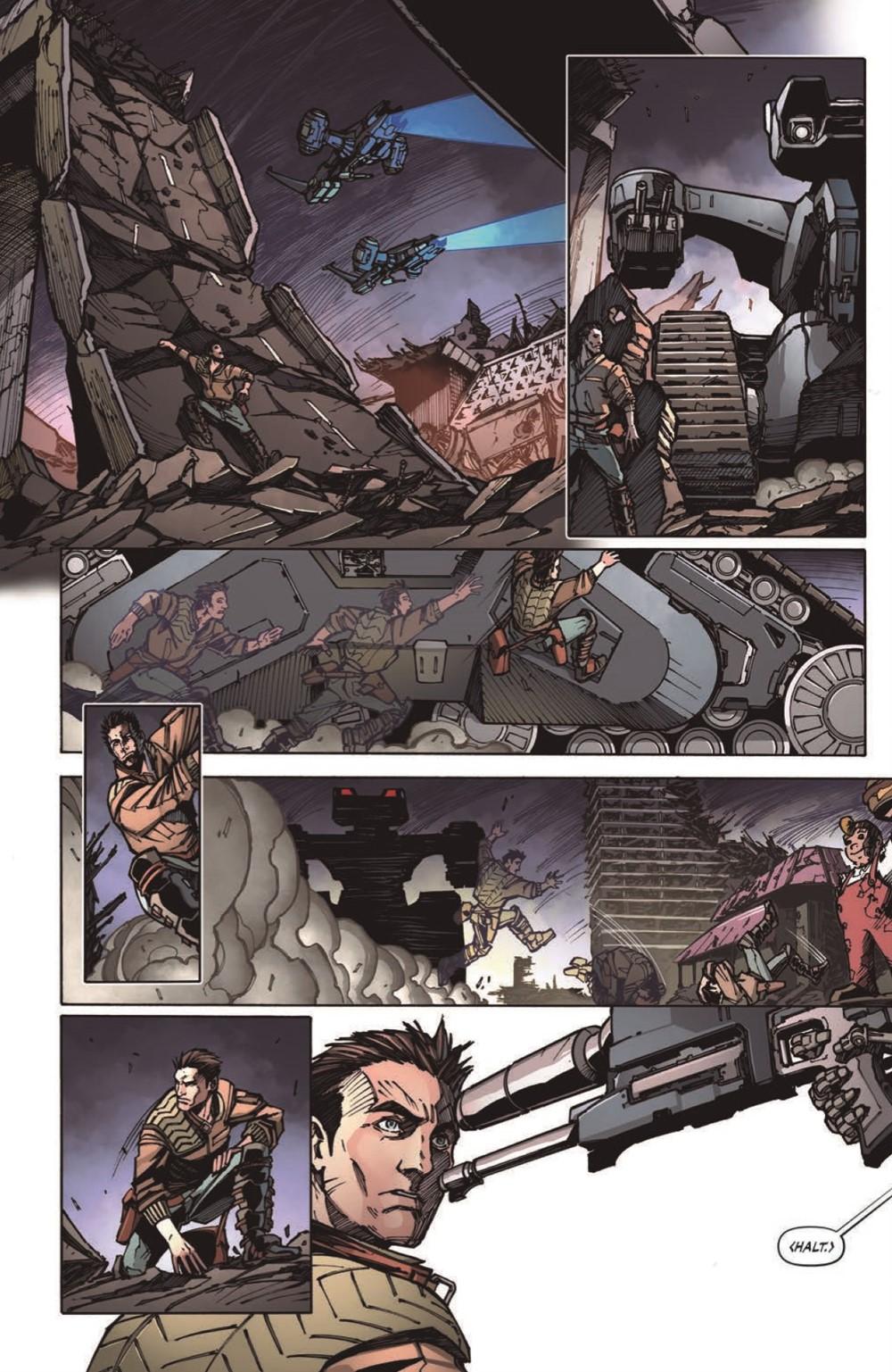 TF-vs-TERMINATOR-pr-6 ComicList Previews: TRANSFORMERS VS THE TERMINATOR ENEMY OF MY ENEMY TP