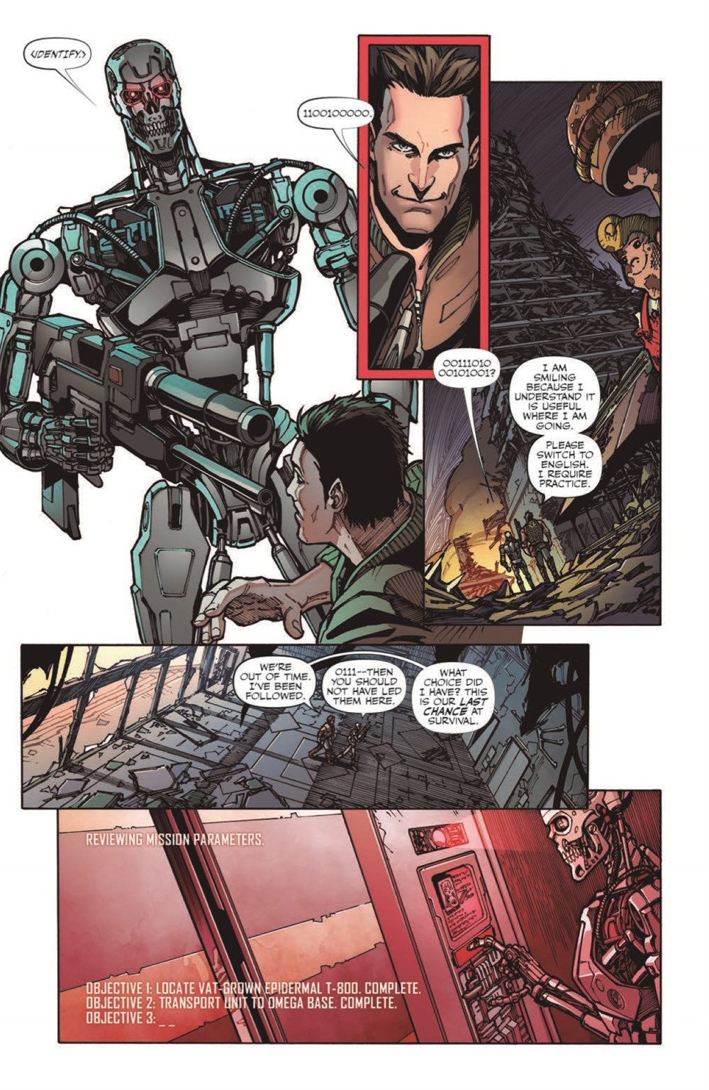 TF-vs-TERMINATOR-pr-7 ComicList Previews: TRANSFORMERS VS THE TERMINATOR ENEMY OF MY ENEMY TP
