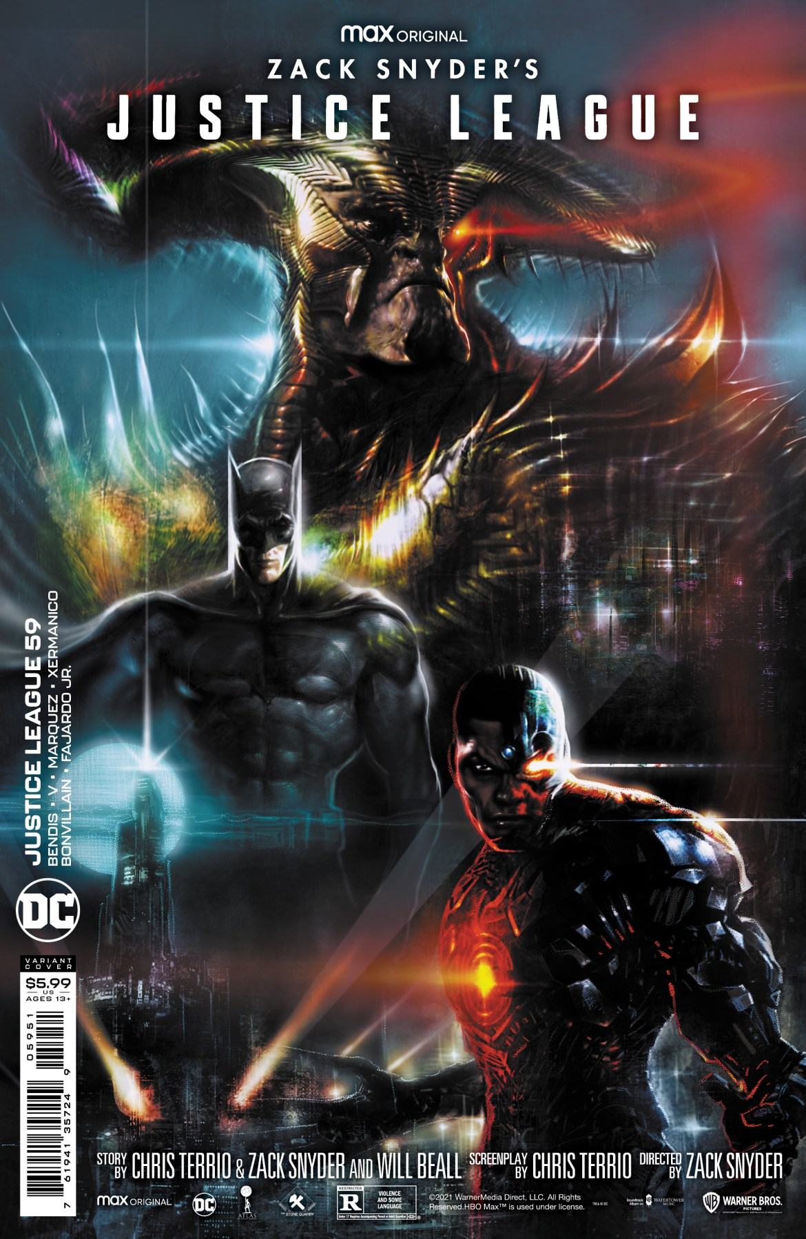0121DC836 JUSTICE LEAGUE #95 to feature Snyder Cut variant covers