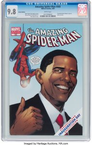 Amazing-Spider-Man-583-Obama-Variant-190x300 Right Wing & Left Wing Comic Cameos
