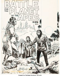 Battle-for-the-Planet-of-the-Apes-by-Ernie-Chan-236x300 Power Records Comics: Superheroes, SciFi, and More