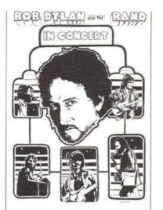Bob-Dylan-and-the-Band-233x300 Bob Dylan Co-Headlining Concert Posters Through The Years - Part 1