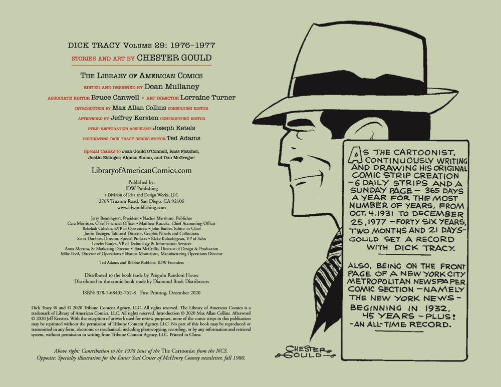 DickTracy29_pr-2 ComicList Previews: THE COMPLETE CHESTER GOULD'S DICK TRACY VOLUME 29 1976-1977 HC