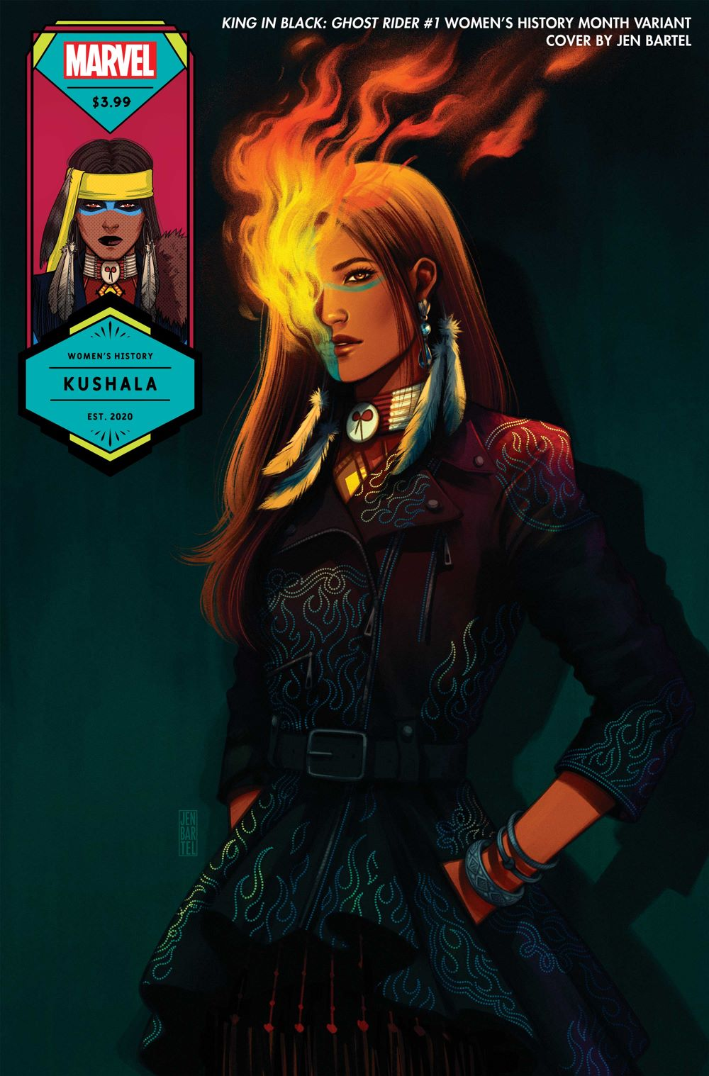 GHOSTRKIB2021001_Bartel_Womens-History-Month Next set of Marvel WOMEN'S HISTORY MONTH variant covers revealed