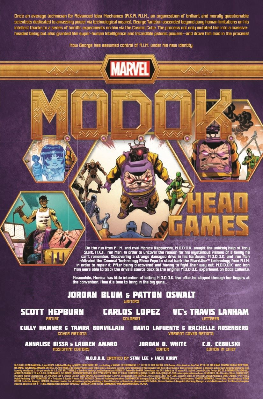 MODOK2020003_Preview-2 ComicList Previews: M.O.D.O.K. HEAD GAMES #3 (OF 4)