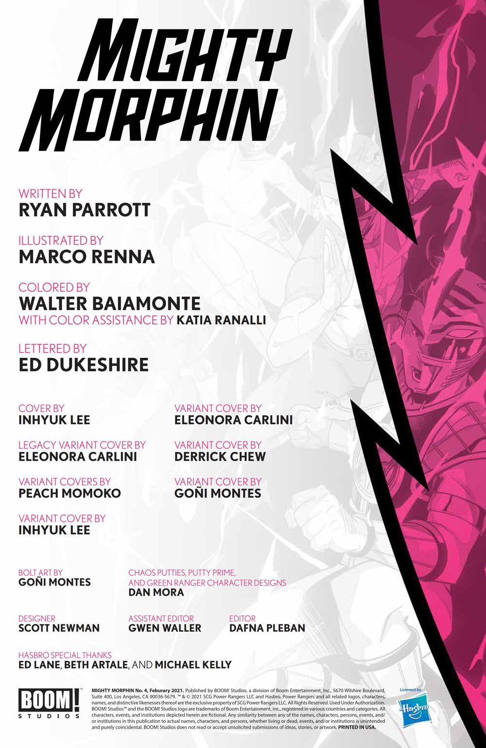 MightyMorphin_004_PRESS_2 ComicList Previews: MIGHTY MORPHIN #4