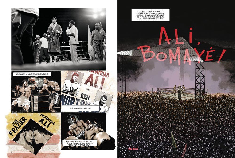 MuhammadAli_spreads_ ComicList Previews: MUHAMMAD ALI KINSHASA 1974 HC