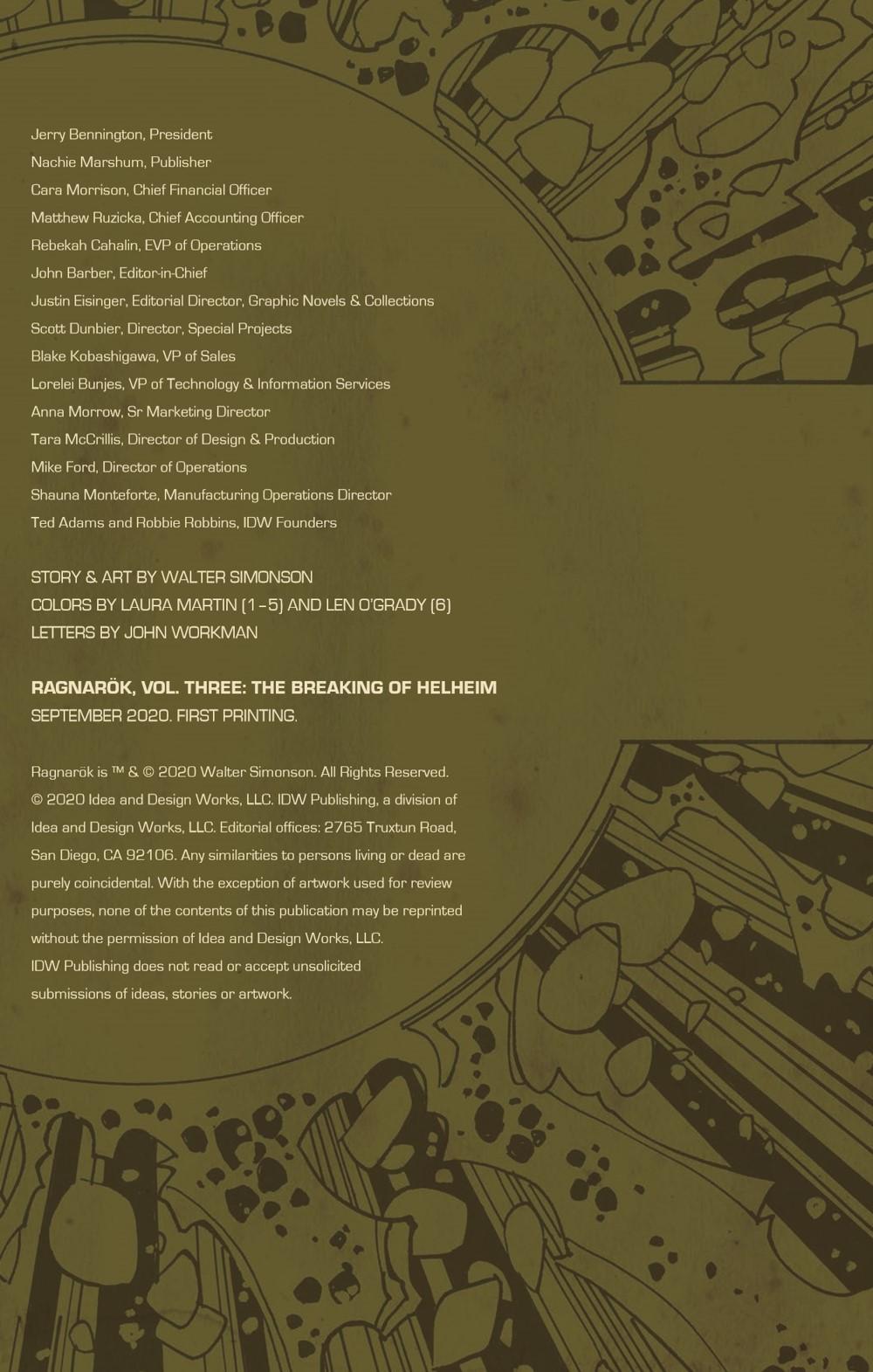 Ragnarok03-HC_pr-3 ComicList Previews: RAGNAROK VOLUME 3 THE BREAKING OF HELHEIM HC
