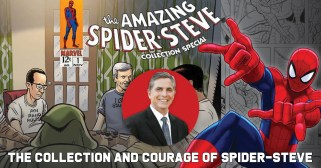 Spider-Steve-300x157 The Collection and Courage of Spider-Steve Levine