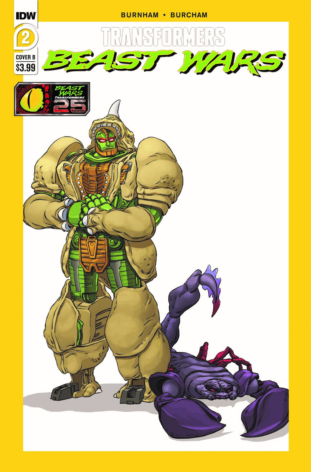 TFBW-Cover-B ComicList Previews: TRANSFORMERS BEAST WARS #2