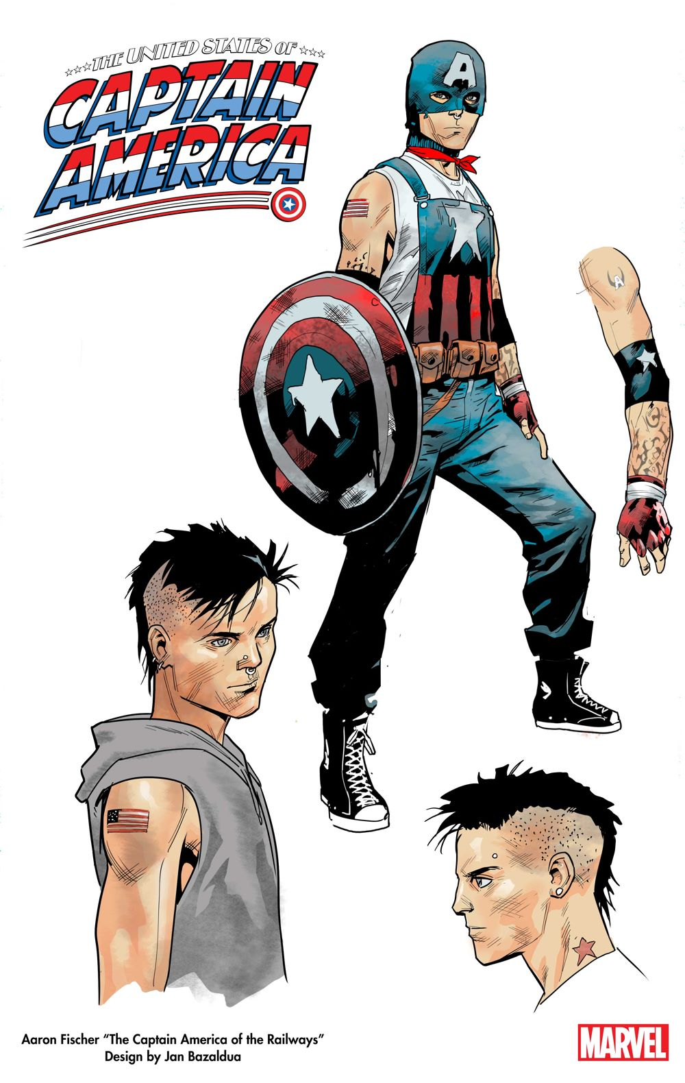 Aaron-Fischer_Design Discover new heroes in THE UNITED STATES OF CAPTAIN AMERICA #1