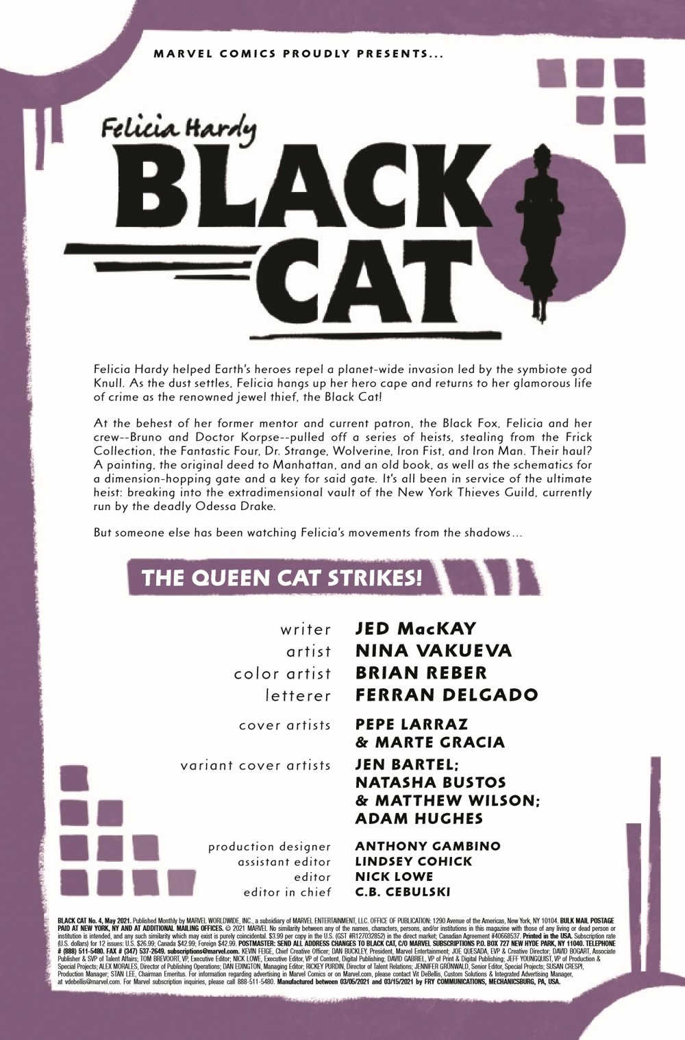 BLACKCAT2020004_Preview-2 ComicList Previews: BLACK CAT #4
