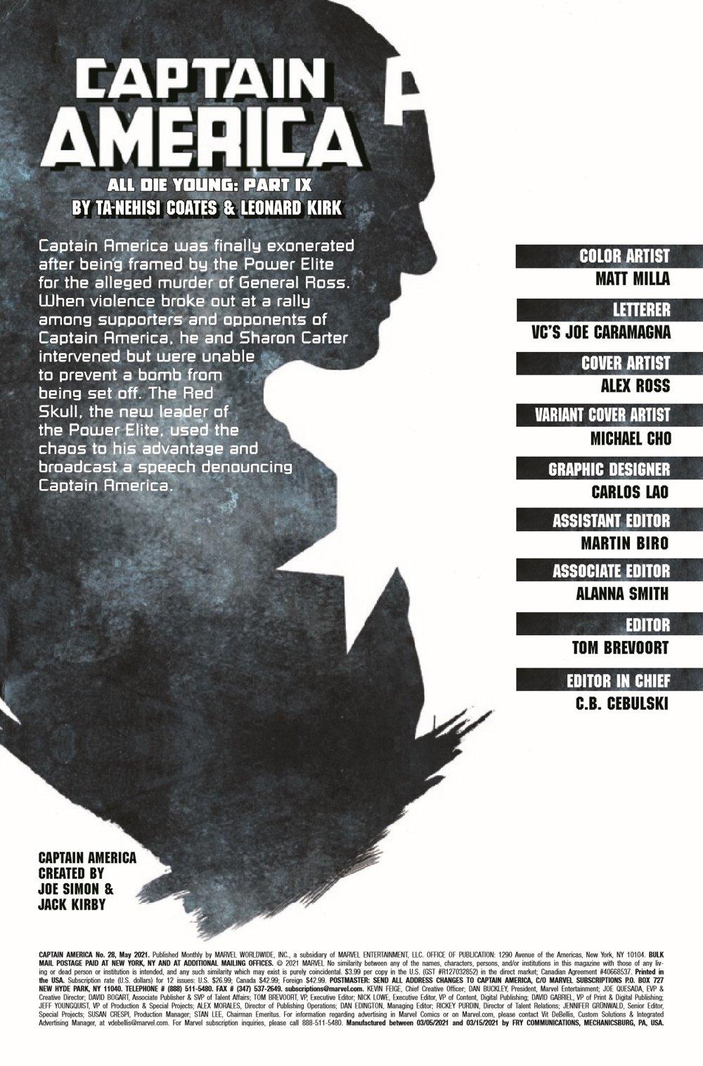 CAPA2018028_Preview-2 ComicList Previews: CAPTAIN AMERICA #28