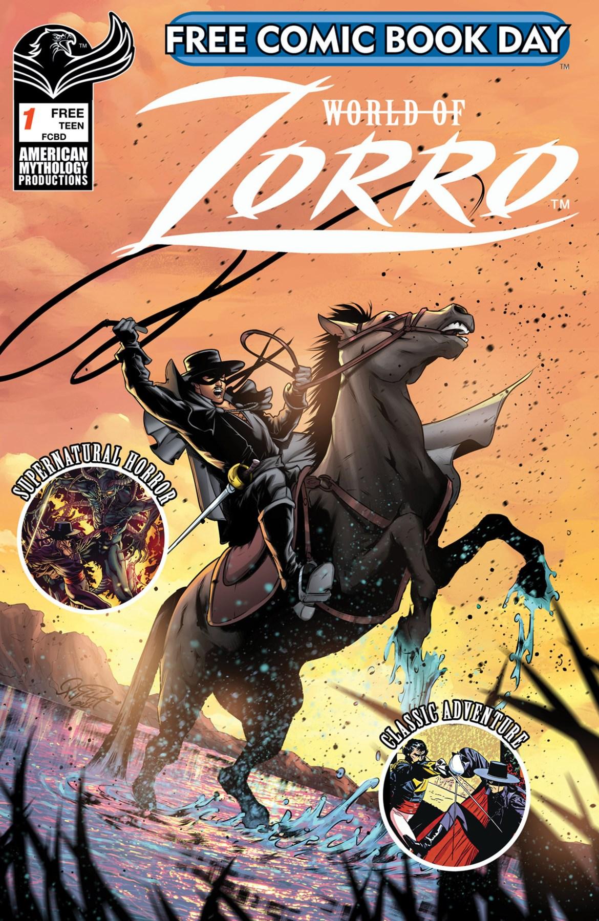 FCBD21_SILVER_American-Myth_Worlds-Of-Zorro Complete Free Comic Book Day 2021 comic book line-up announced