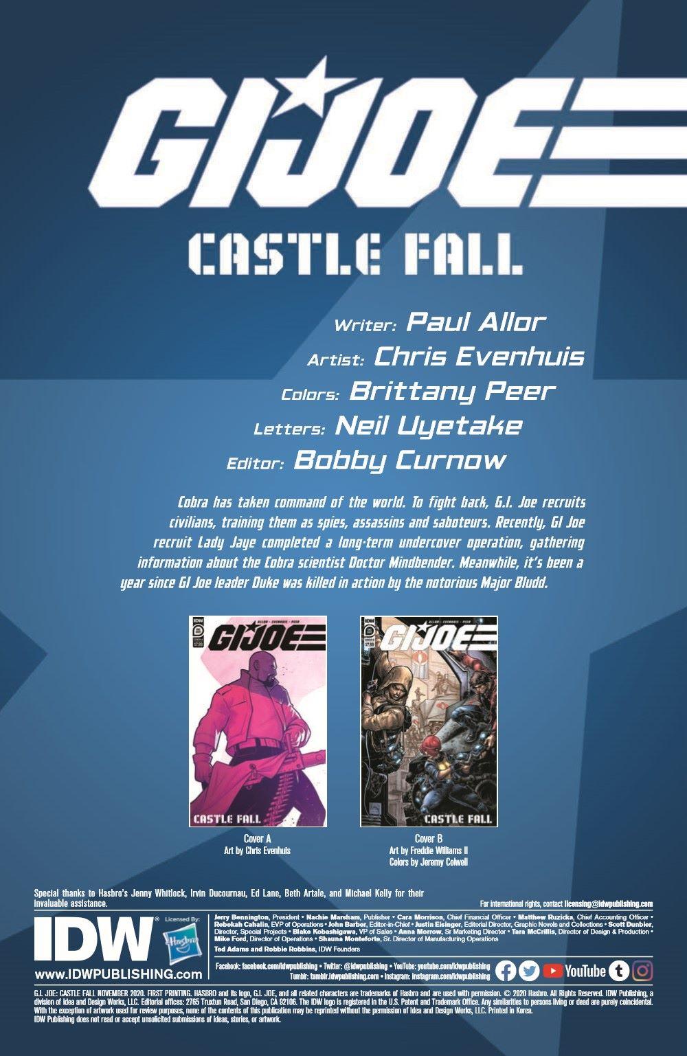 GIJoe_CastleFall-pr-2 ComicList Previews: G.I. JOE CASTLE FALL #1