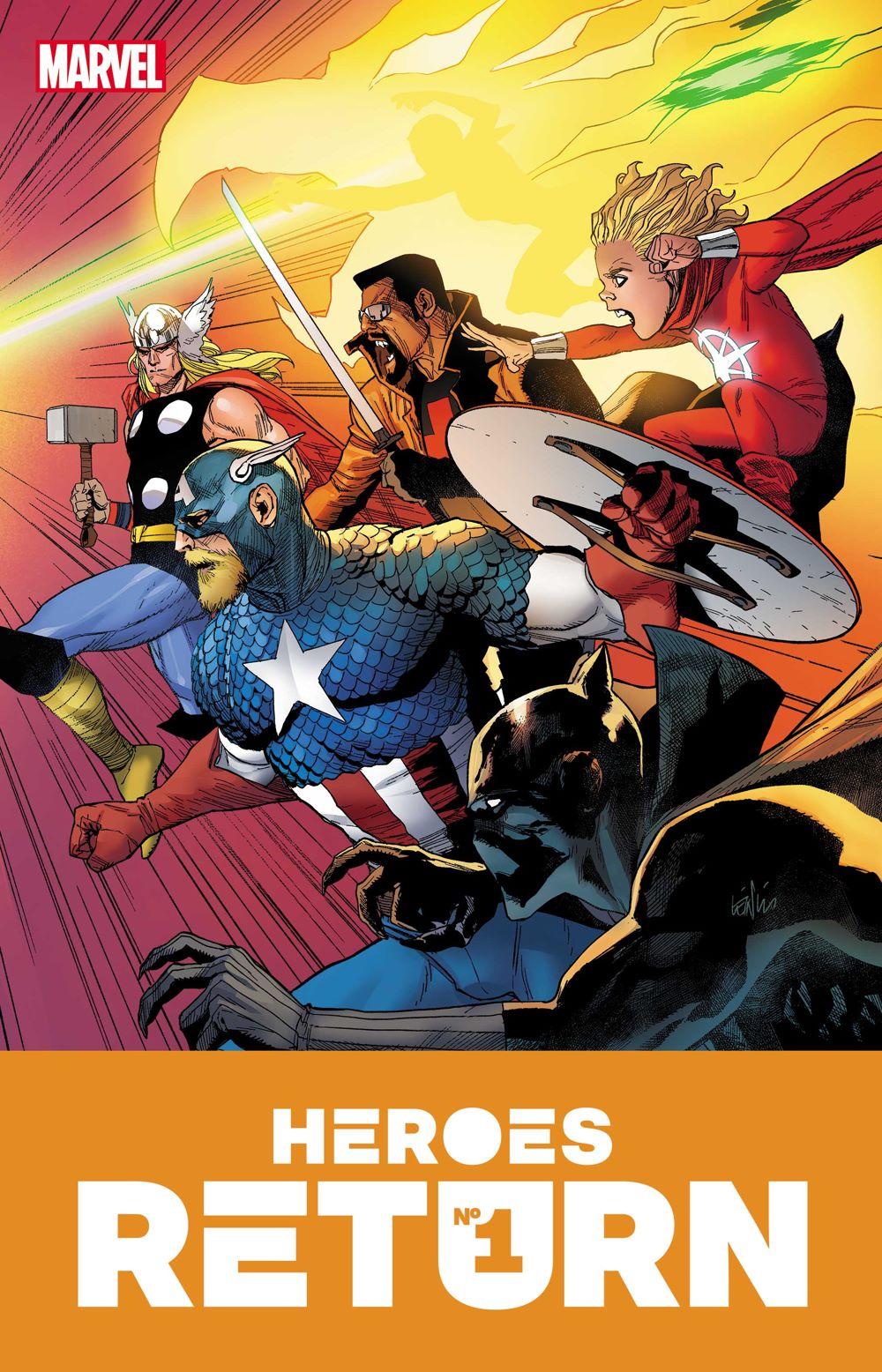 HEROESRETURN001_COV-1 Marvel Comics June 2021 Solicitations
