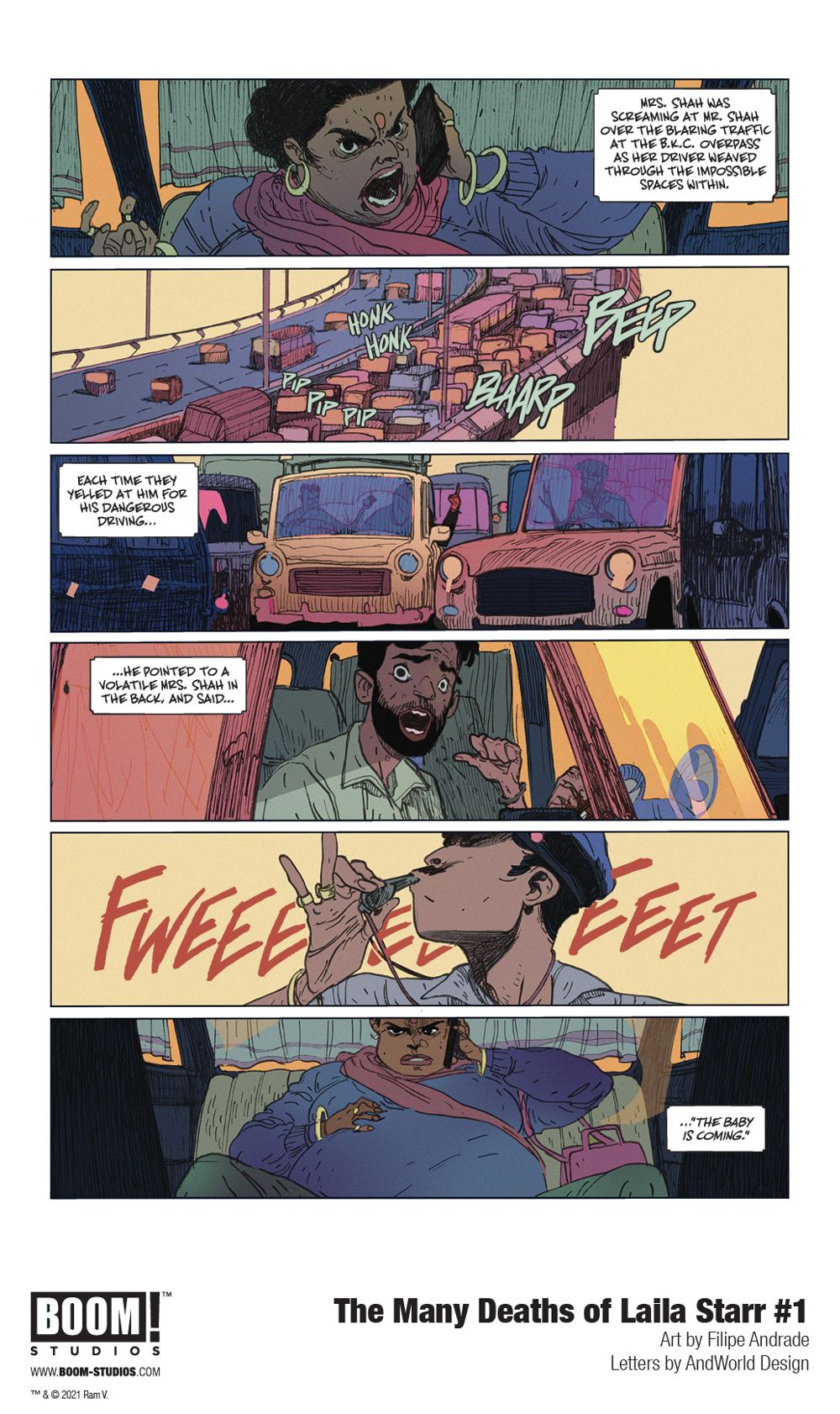 ManyDeathsLailaStarr_001_InteriorArt_002_PROMO First Look at BOOM! Studios' THE MANY DEATHS OF LAILA STARR #1
