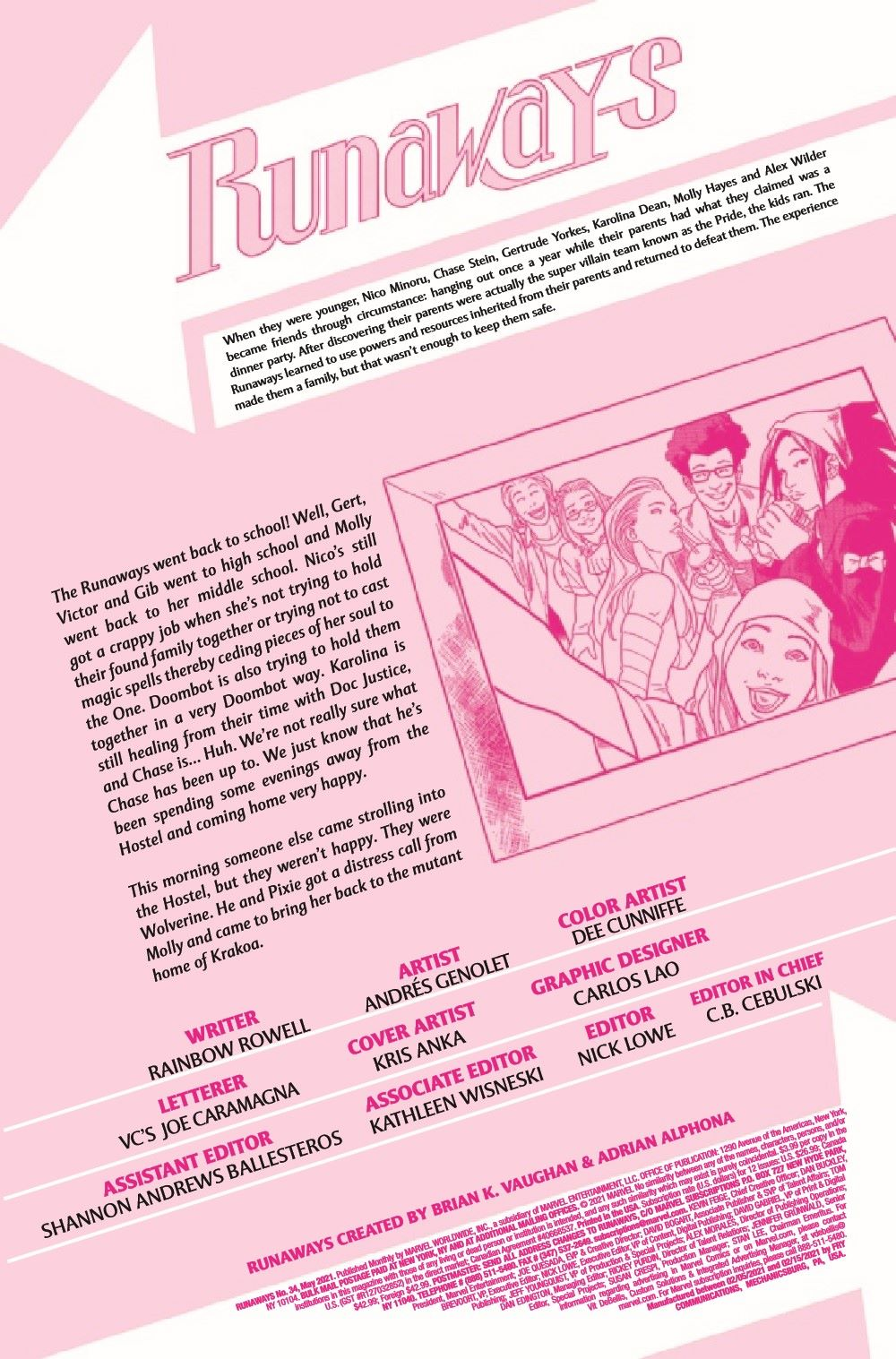 RUNAWY2017034_Preview-2 ComicList Previews: RUNAWAYS #34