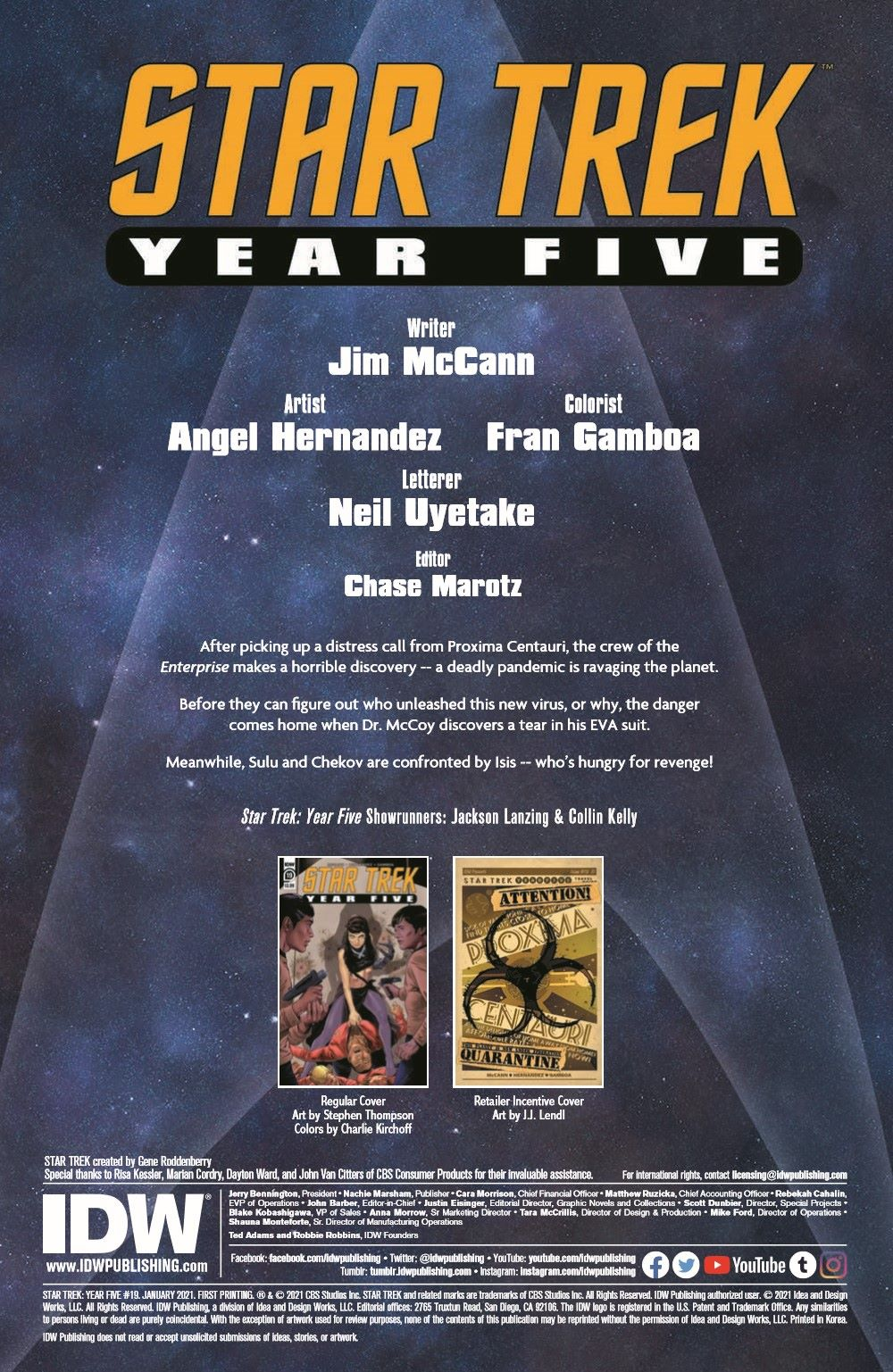 ST_YearFive19-pr-2 ComicList Previews: STAR TREK YEAR FIVE #19