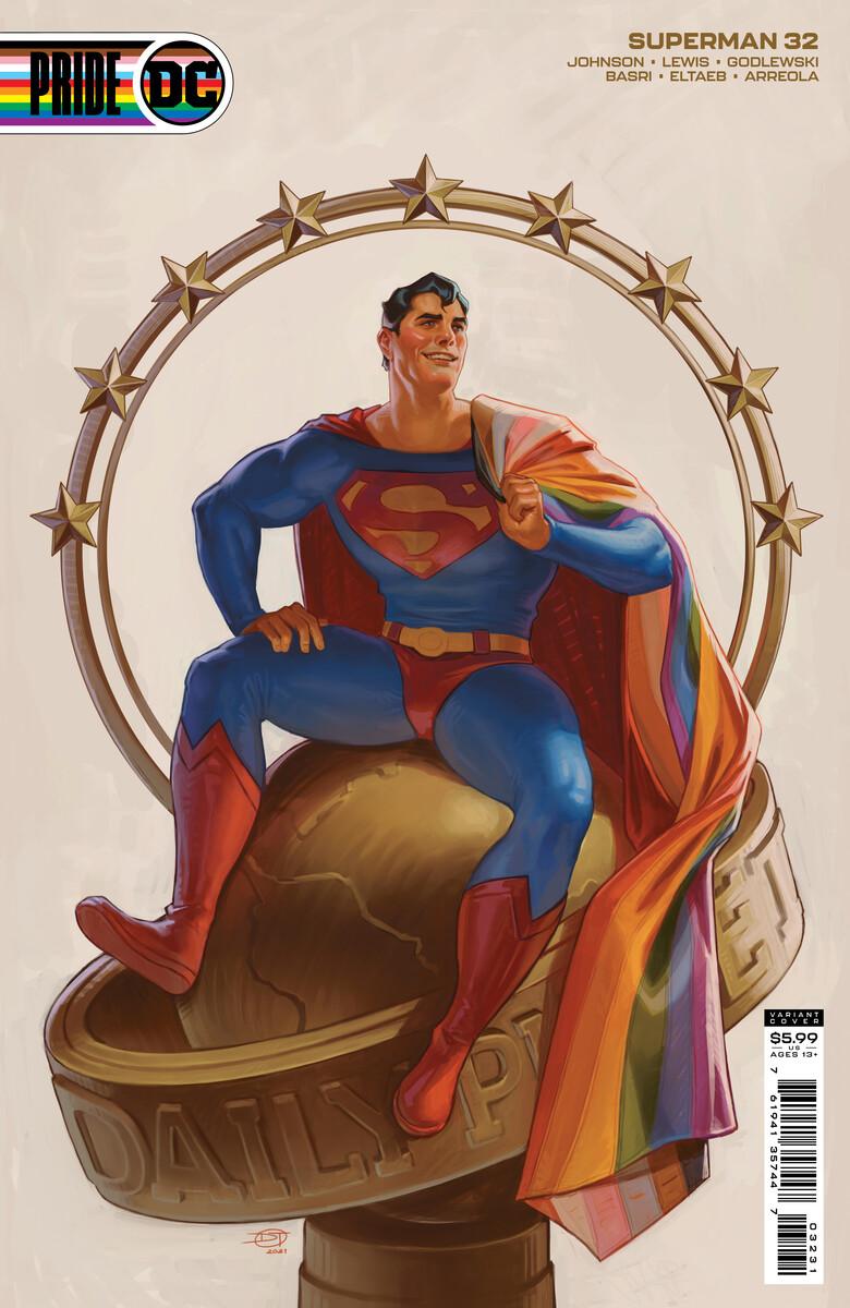SUPERMAN_Cv32_PRIDE_var_David_Talaski_60496ce2c8df63.08597771 DC PRIDE anthology to feature nine Pride themed variant covers