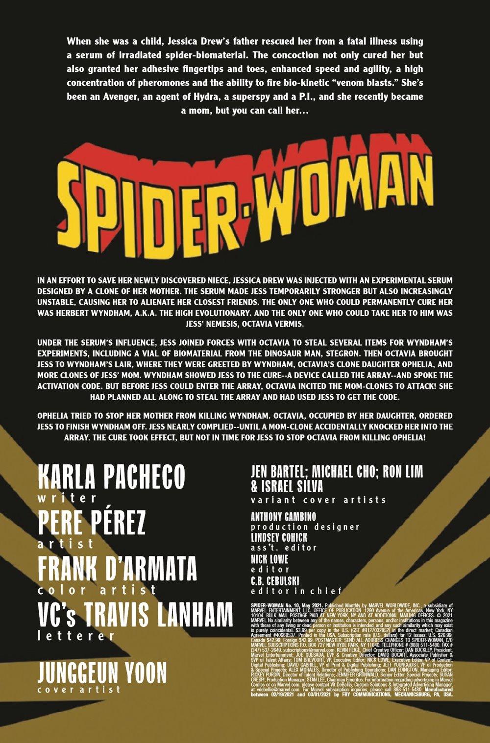 SWOMAN2020010_Preview-2 ComicList Previews: SPIDER-WOMAN #10