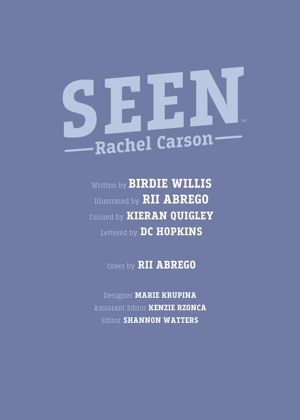 Seen_RachelCarson_OGN_SC_PRESS_7 ComicList Previews: SEEN TRUE STORIES OF MARGINALIZED TRAILBLAZERS VOLUME 2 RACHEL CARSON GN