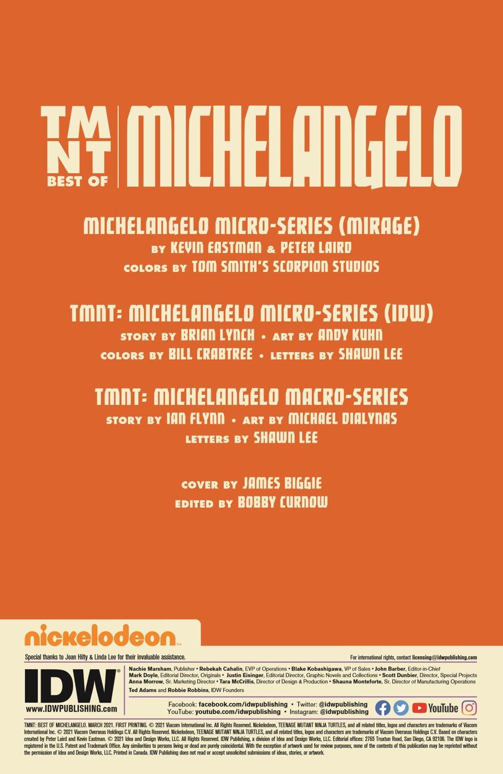 TMNT-Bestof-Mike_pr-2 ComicList Previews: TEENAGE MUTANT NINJA TURTLES BEST OF MICHELANGELO #1