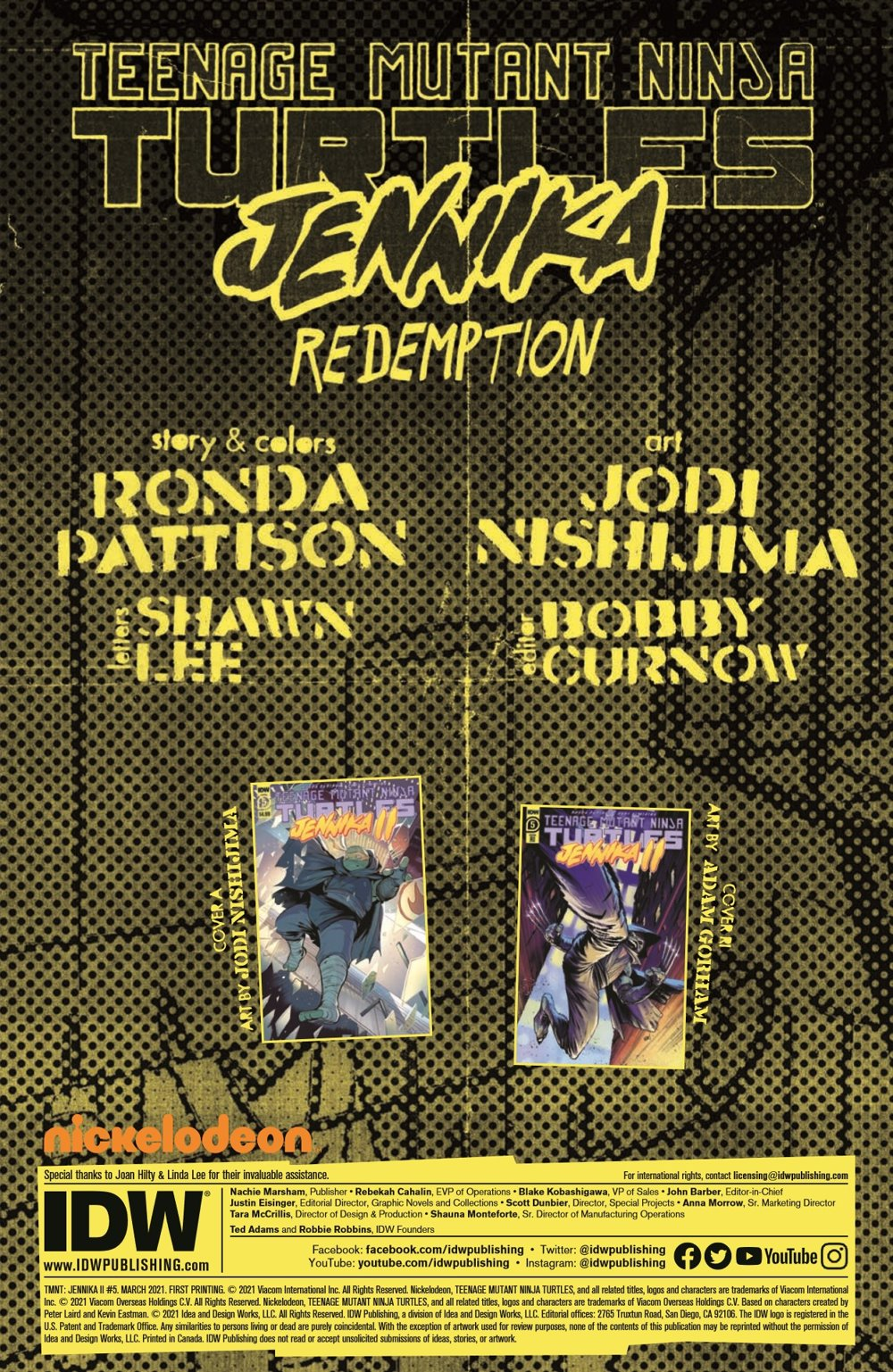 TMNT-JennikaII_05_pr-2 ComicList Previews: TEENAGE MUTANT NINJA TURTLES JENNIKA II #5 (OF 6)