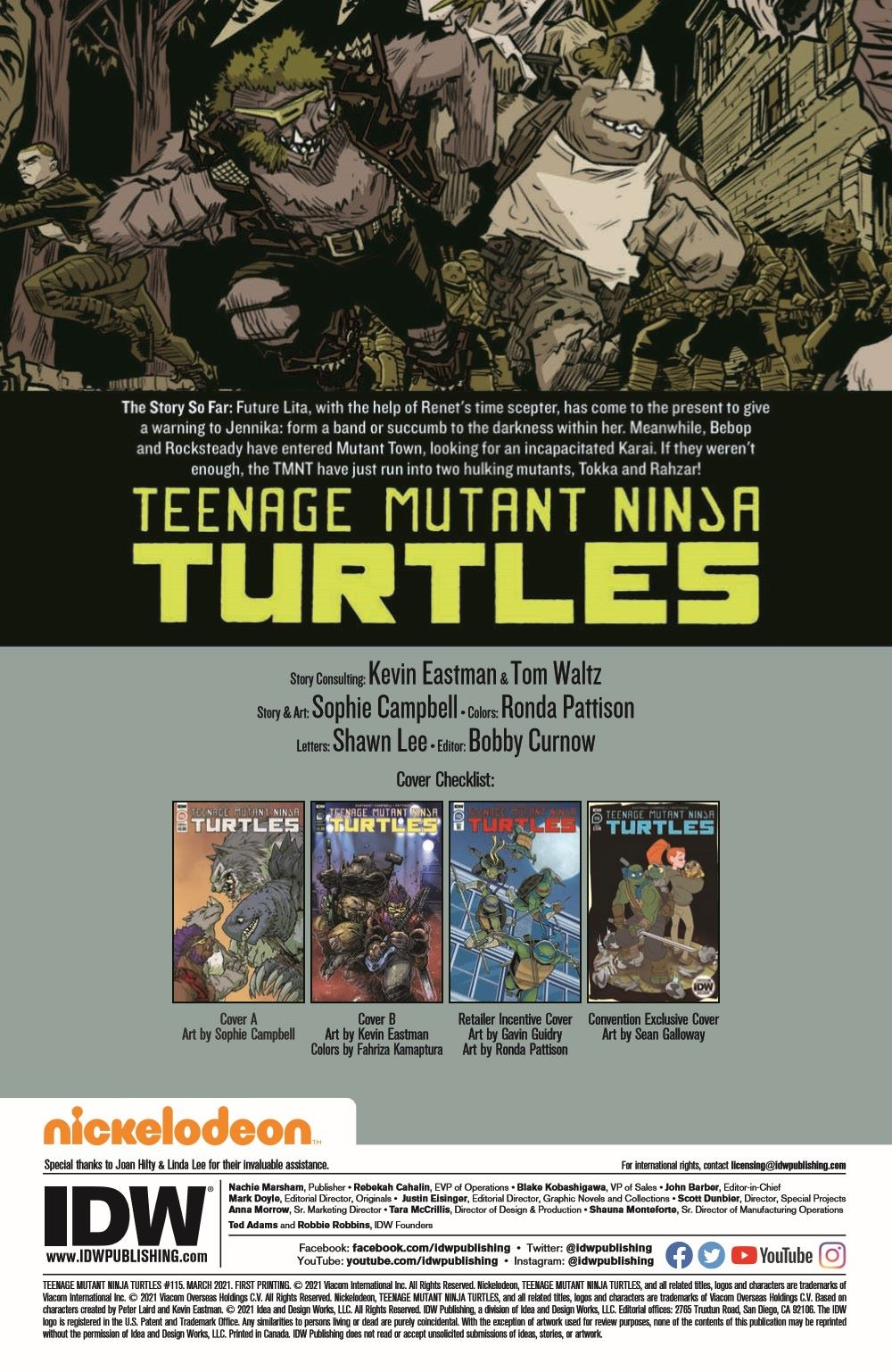 TMNT115_pr-2 ComicList Previews: TEENAGE MUTANT NINJA TURTLES #115
