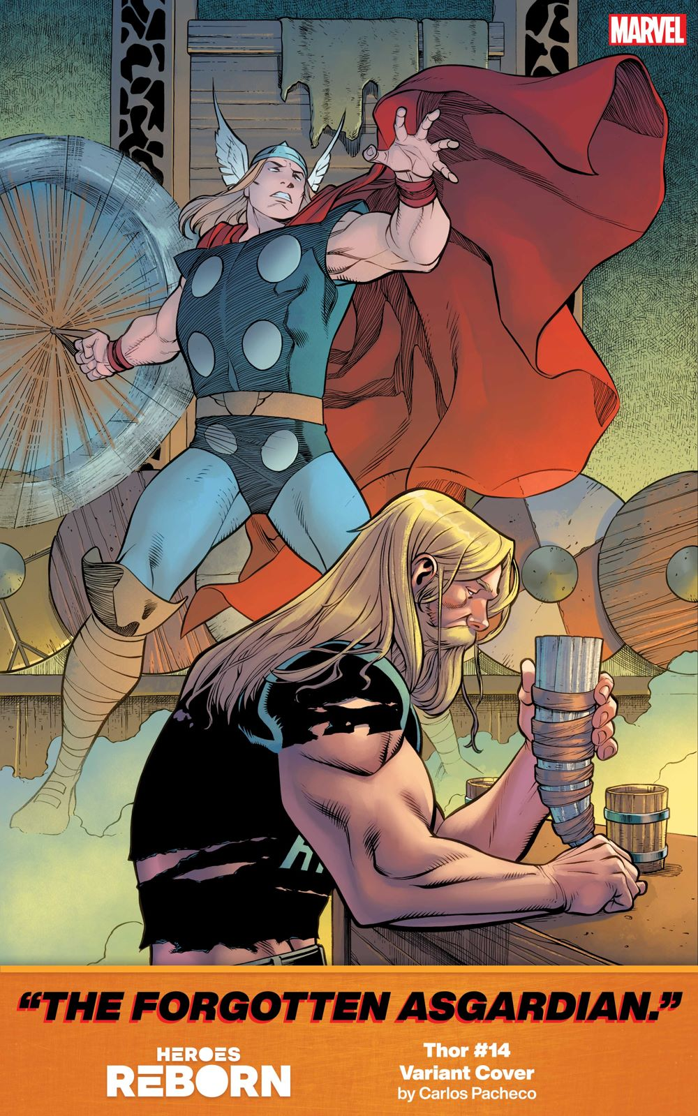 Thor14 Carlos Pacheco's covers document the history of HEROES REBORN