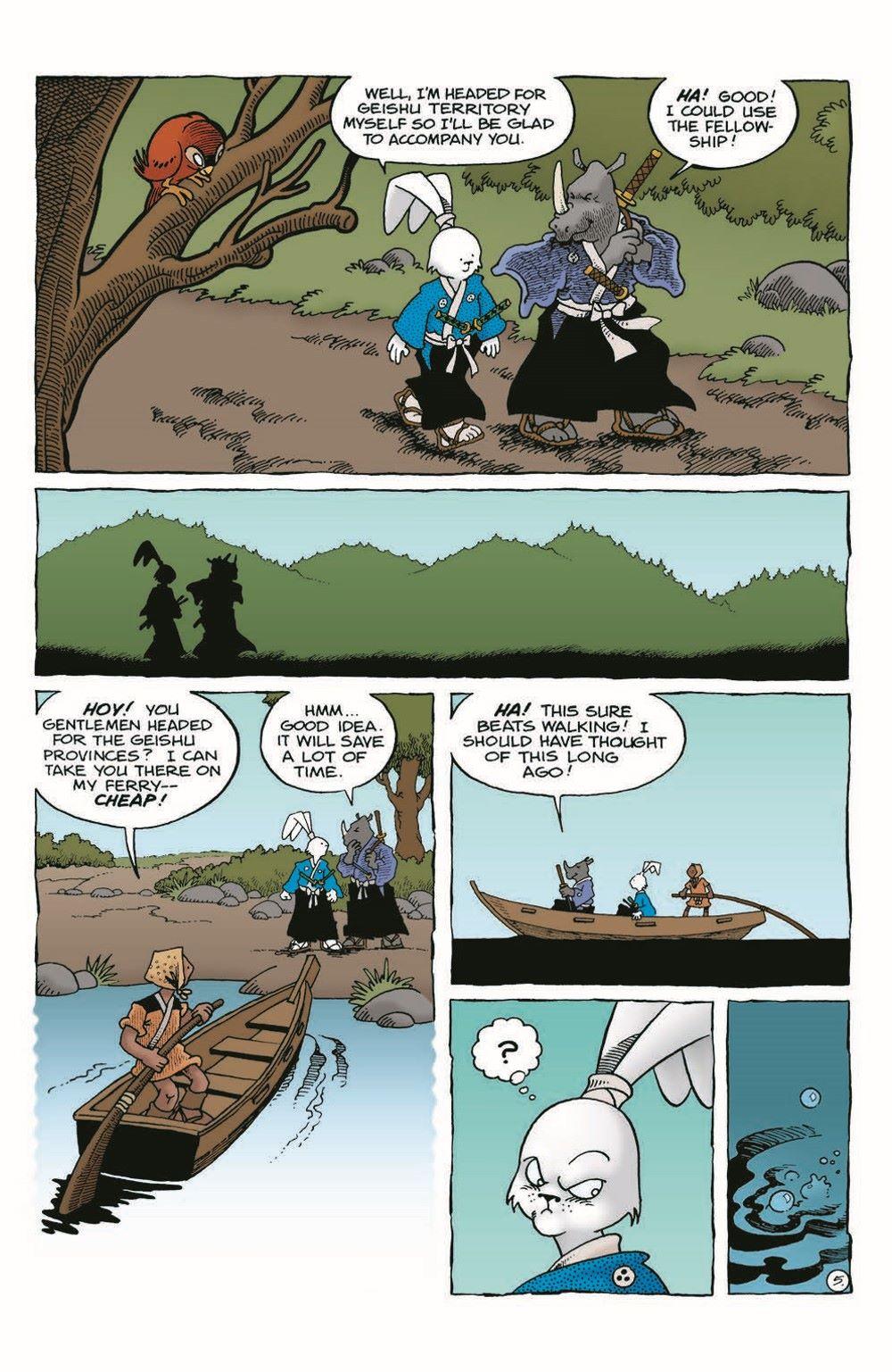 Usagi-WR05_pr-7 ComicList Previews: USAGI YOJIMBO WANDERER'S ROAD #5 (OF 6)