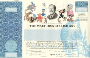 image-300x195 Disney Stock Certificates Worth More than Disney Stock?: Stock Certificate Collecting 101