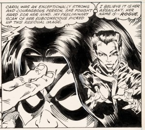 1st-Rogue-Panel-in-Avengers-Annual-10-300x268 First Appearance Original Art Mania: Heritage Auctions