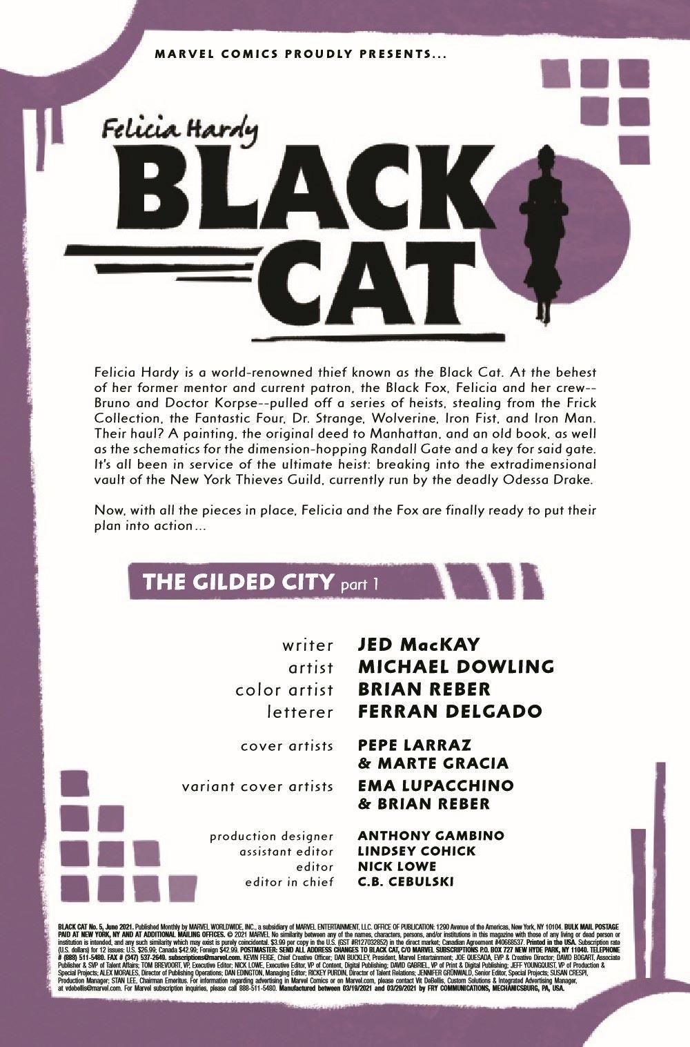 BLACKCAT2020005_Preview-2 ComicList Previews: BLACK CAT #5