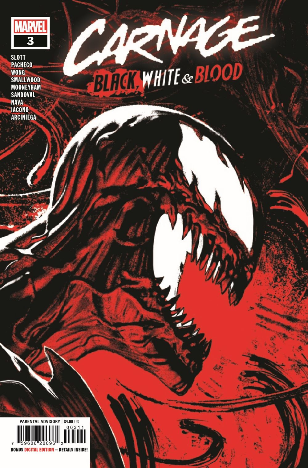 CARNBLKWHBL2021003_Preview-1 ComicList Previews: CARNAGE BLACK WHITE AND BLOOD #3 (OF 4)