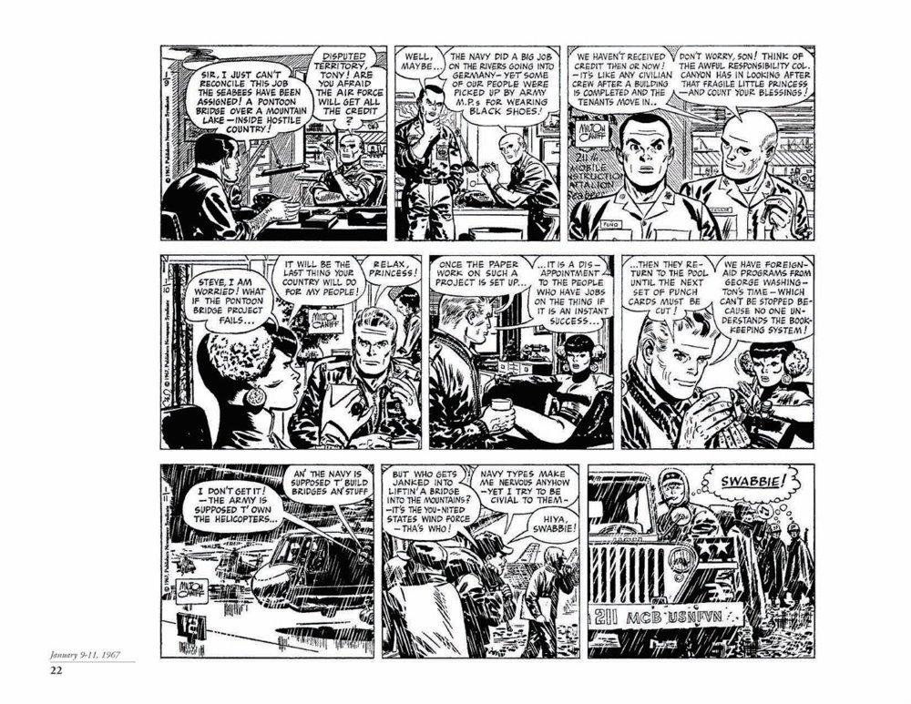 Canyon11_pr-7 ComicList Previews: STEVE CANYON VOLUME 11 1967-1968 HC