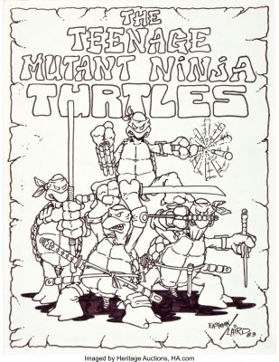 First-Ever-Drawing-of-the-Teenage-Mutant-Ninja-Turtles-232x300 What If Eastman and Laird Created TMNT Today?
