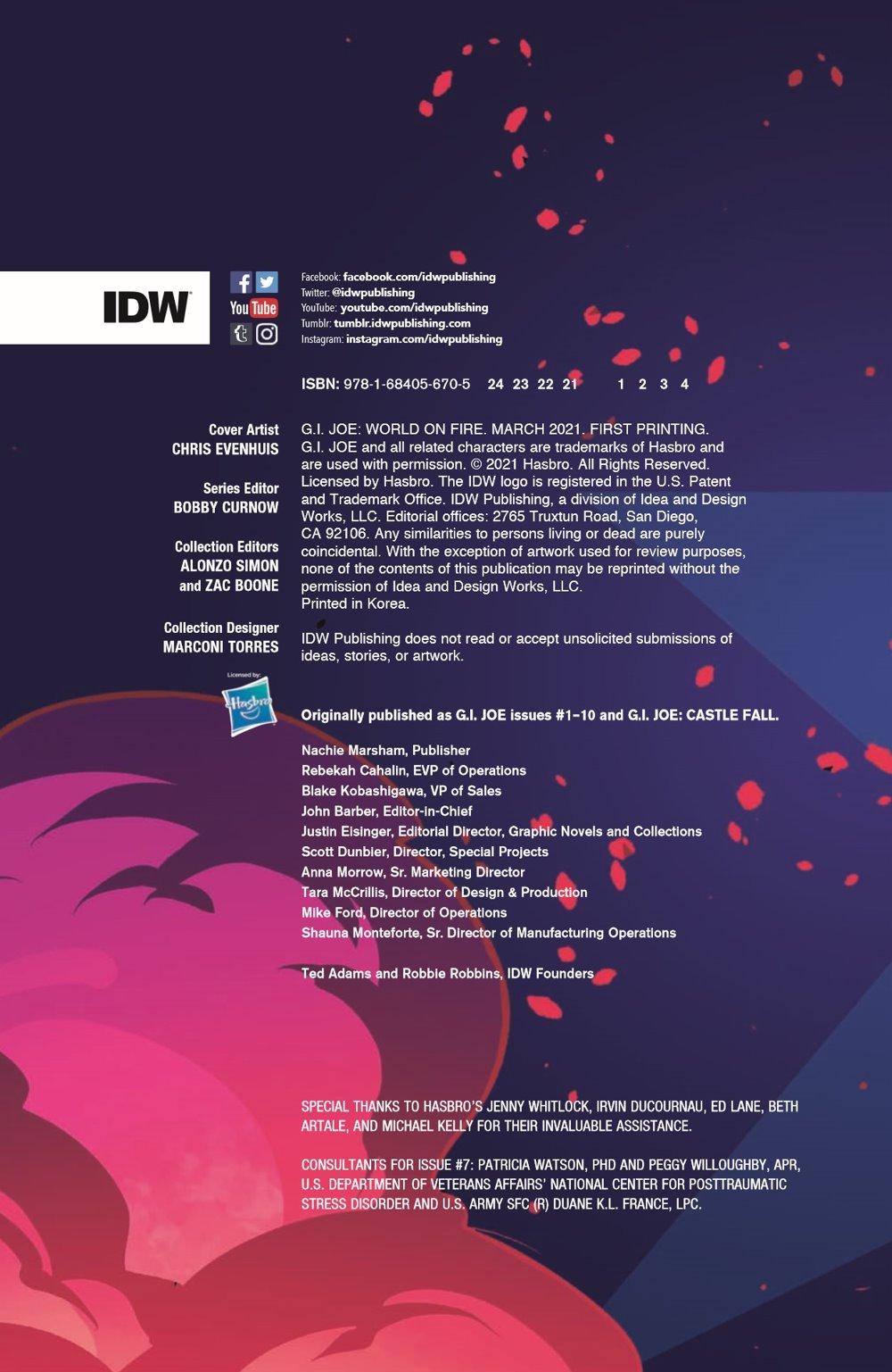 GIJOE_TPB_WoF_pr-2 ComicList Previews: G.I. JOE VOLUME 1 WORLD ON FIRE TP